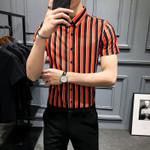 Casual Slim Dress Shirts Streetwear Socia Tops