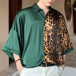 Casual Shirts Male Streetwear Hip Hop Fashion Short Sleeve
