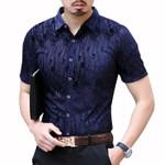 Social Fashion Streetwear Transparent Short Sleeve Velvet Shirt