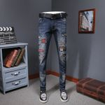 Heavy Embroidery Wear Fashion Jeans