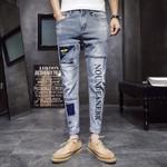 Fashion Vintage Ripped Jeans Skinny Slim Fit