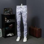 Floral Print Jeans Denim Skinny Jeans Casual
