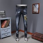 Colored Jeans Trendy Fashion Design Embroidery