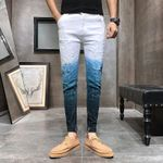Gradient Color Streetwear Jeans Slim Fit