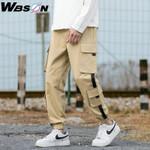 Harajuku Cargo Pants Straight Pants Male Solid