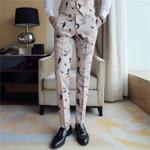 Casual Pants Night Club Dress Pants Flora Print Trousers