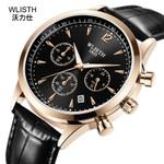 Black Leather Quartz Watch Top Brand Luxury