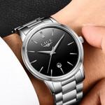 Ultra thin Fashion Male Wristwatch stainless steel Watchband