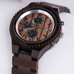 Wood Date Watch Male Quartz Wristwatches