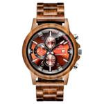 Luxury Wood Stainless Steel Watch Stylish