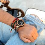 Promotion Sale Zebra Wood Strap Luxury Wristwatch