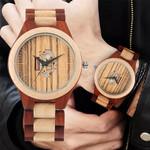 Watch Full Wood Bangle Watches Quartz Movement