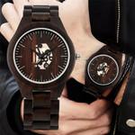 Cool Ebony Wood Watches Quartz Movement