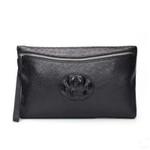 ostrich skin with siamese crocodile leather bag