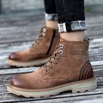military black ankle boots outdoor shoes genuine