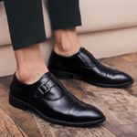 Genuine Leather dress business shoes outdoor