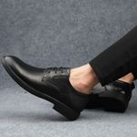 genuine Leather Office Shoes lace up Classic