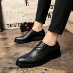 Fashion bullock Carved Business Dress shoes