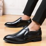 Fashion Casual Breathable Loafers Leather Casual Shoes