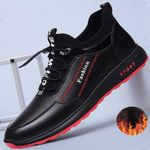 Fashion leather Shoes Casual Plus velvet Sneakers