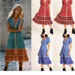 New Fashion BOHO Ladies Beach Midi Dress