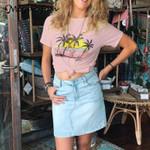 Boho Girl Graphic print T-shirt Tops Cotton