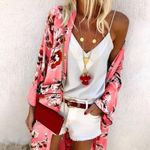 Casual Tops Fashion Clothes Chaqueta Mujer Floral Coat
