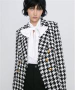 Jacket Fashion Houndstooth Coat Boho Elegant Jacket