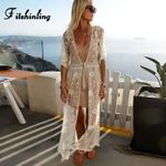 Beach Cover-Up Swimwear Transparent Slim Sexy Kimono