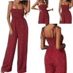 Jumpsuit Polka Dot High Waist Rompers
