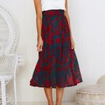 Casual beach boho maxi  Dot Pocket skirt