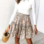 Casual beach boho mini skirt Floral Printed