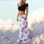 Lady Bohemian Flowers Printed Festival Maxi Skirt