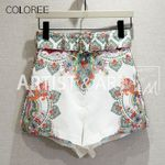 Runway Designer Shorts New Fashion Floral Print