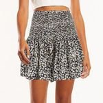 Boho Beach Floral Print Short Pleated Skirts