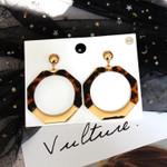 Fashion Acrylic Boho Acetate Leopard Dangle Drop Earings