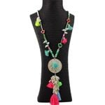 Bohemian Ethnic Long Chain Shell Tassel Pendant Dreamcatcher