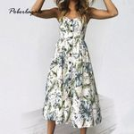 beach robe Sunflower print backless casual dress