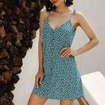 Casual Fashion print Straight strap dress