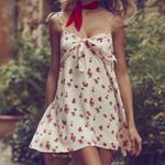 Vintage Sweet Sexy Cherry Print Dress