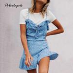 boho Holiday Bohemian Print Halter Dress