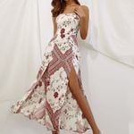 boho long Sexy maxi Slings Ethnic Printed dress
