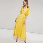 Sexy Maxi Hot Yellow Street Boho Dresses