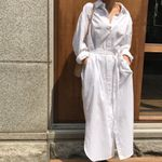 Shirt Dress Lapel Leisure Sashes