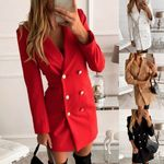 Elegant Office Lady Blazer Dress