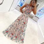 Embroidery Party Evening Boho Maxi Dress