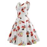 Elegant Sleeveless V Neck Evening Printing Dresses