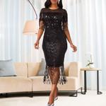 Black Sequine Party Dress