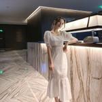 Midi Wrap Hollow Out Midi White Dress