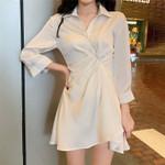 New White Mini Shirt Dress